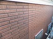[画像]08.外壁-タイル色塗装1回目と2回目の境目