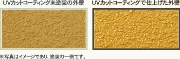 UVカットコーディングで仕上げたサイディング外壁との比較