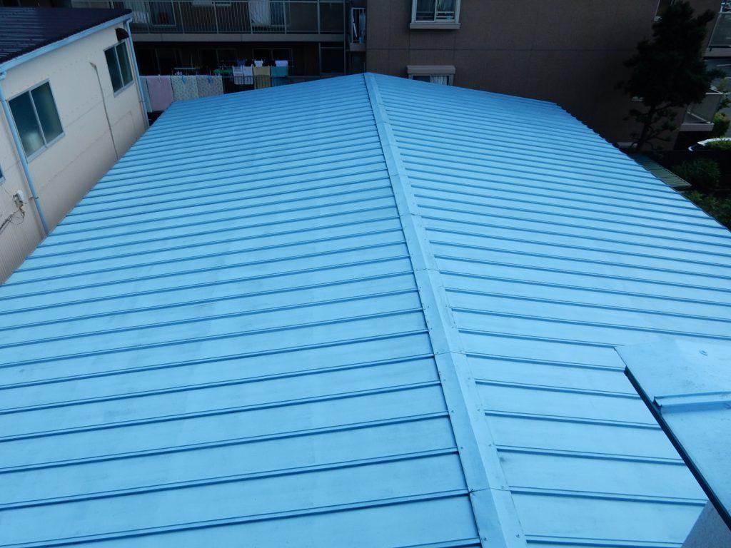 【港北区】 工場屋根塗装ファインシリコンフレッシュ after2