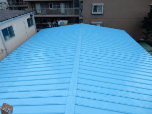 【港北区】 工場屋根塗装ファインシリコンフレッシュ after