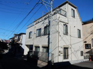 【横浜市南区】 3F戸建て塗装外壁 パーフェクトトップ 屋根 サーモアイSi after