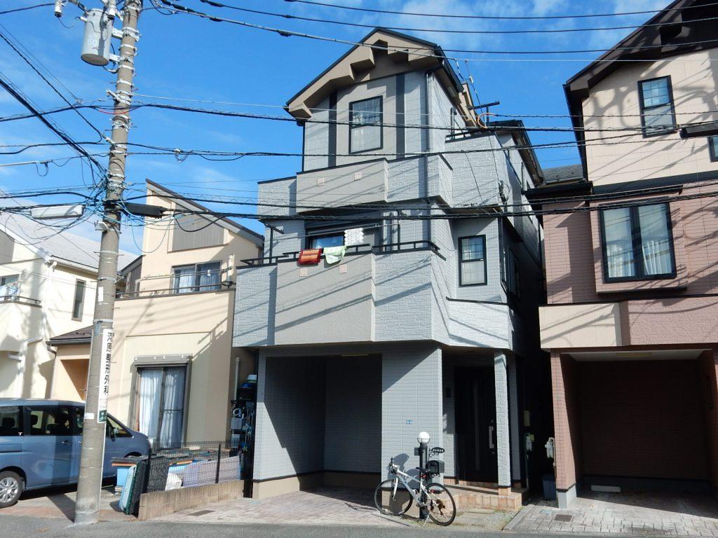 【横浜市磯子区】 3F戸建て塗装外壁 パーフェクトトップ 屋根 サーモアイSi after1