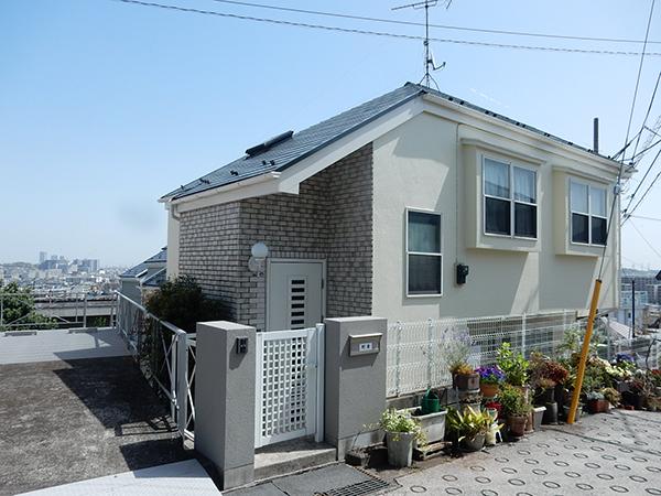 【横浜市港北区】外壁塗装・屋根塗装外壁:ダイヤモンドコート  屋根:サーモアSi after1