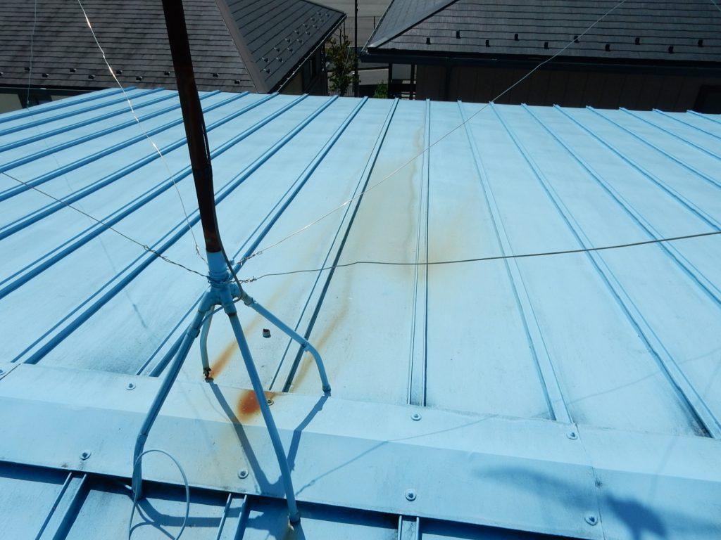 【港北区】 工場屋根塗装ファインシリコンフレッシュ before1