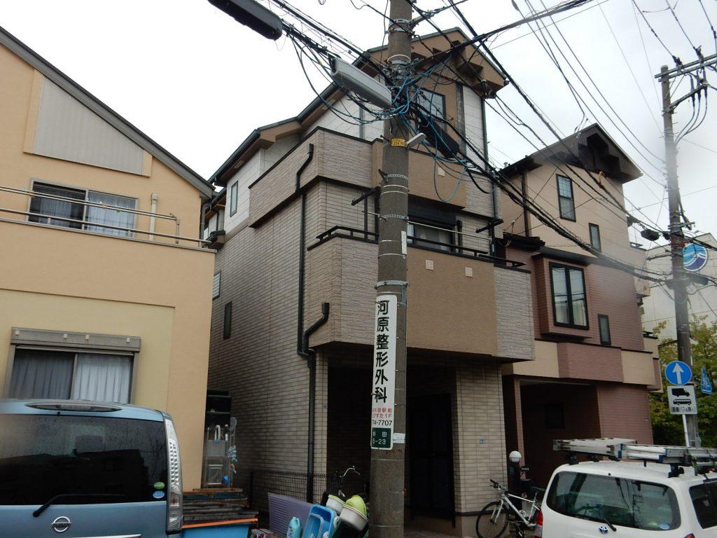 【横浜市磯子区】 3F戸建て塗装外壁 パーフェクトトップ 屋根 サーモアイSi before2