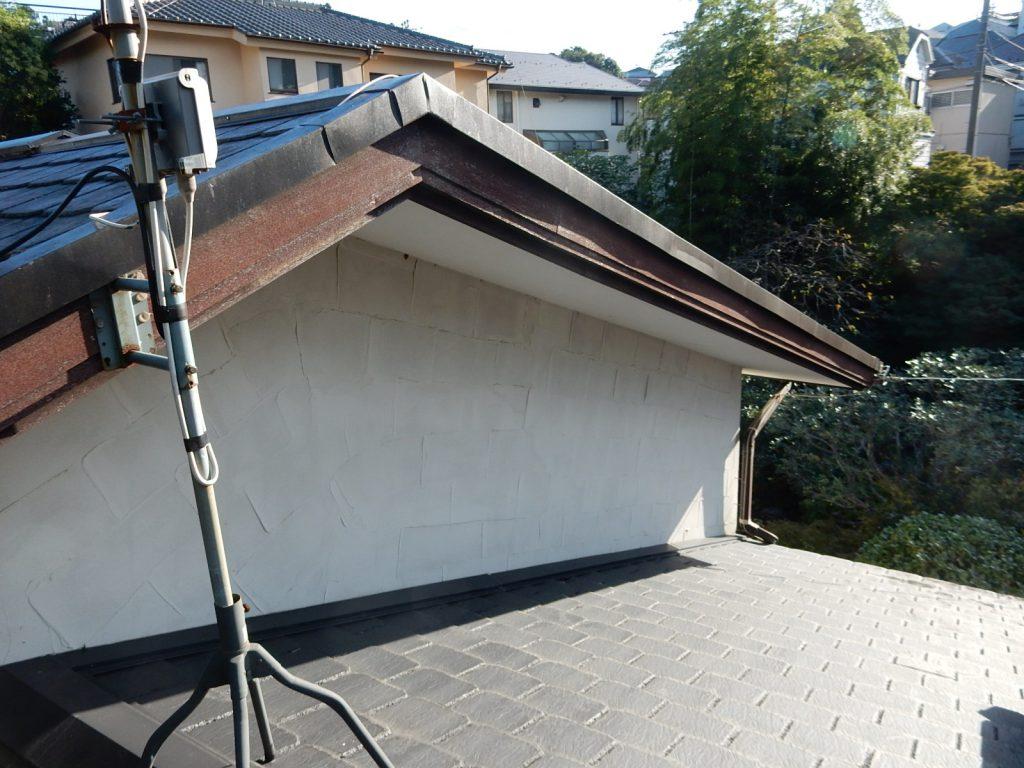 【横浜市港北区】 戸建て塗装外壁 パーフェクトトップ 屋根 スカイメタルルーフ before2