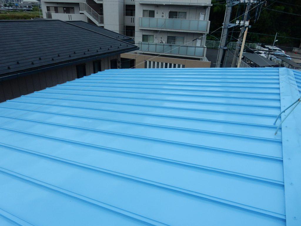 【港北区】 工場屋根塗装ファインシリコンフレッシュ after3