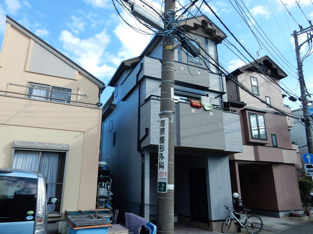 【横浜市磯子区】 3F戸建て塗装外壁 パーフェクトトップ 屋根 サーモアイSi after2