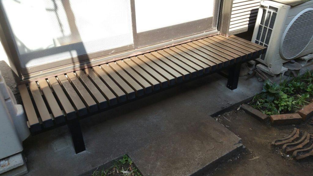 【横浜市神奈川区】バルコニー床デッキ材交換、濡れ縁交換 after1