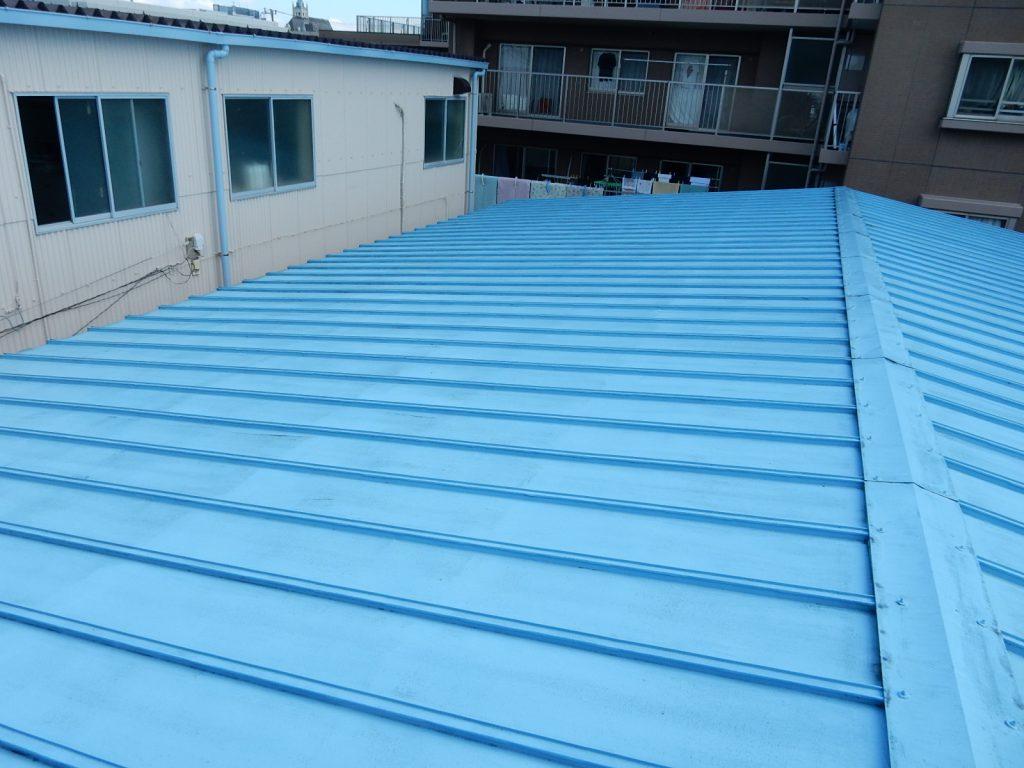 【港北区】 工場屋根塗装ファインシリコンフレッシュ before3
