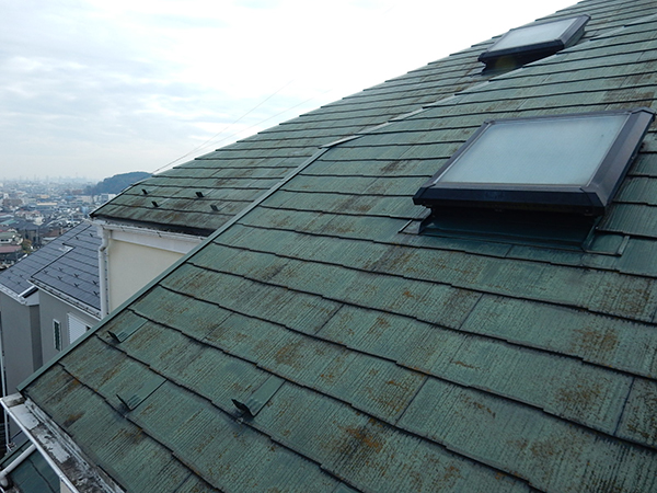 【横浜市港北区】外壁塗装・屋根塗装外壁:ダイヤモンドコート  屋根:サーモアSi before2