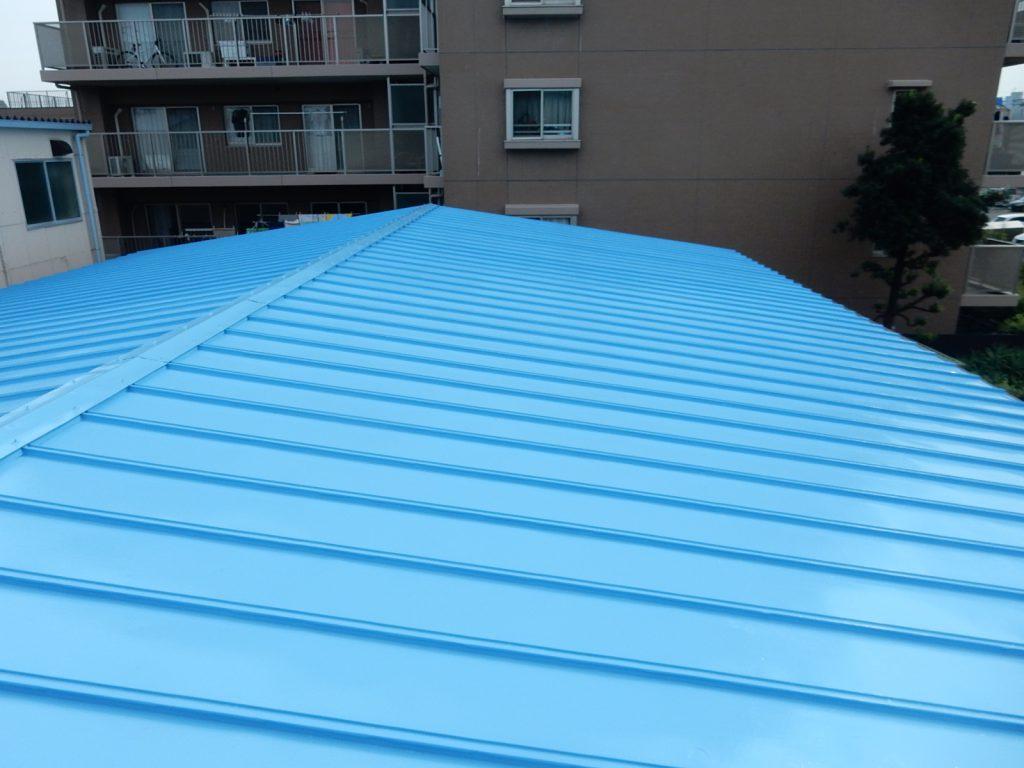 【港北区】 工場屋根塗装ファインシリコンフレッシュ before2