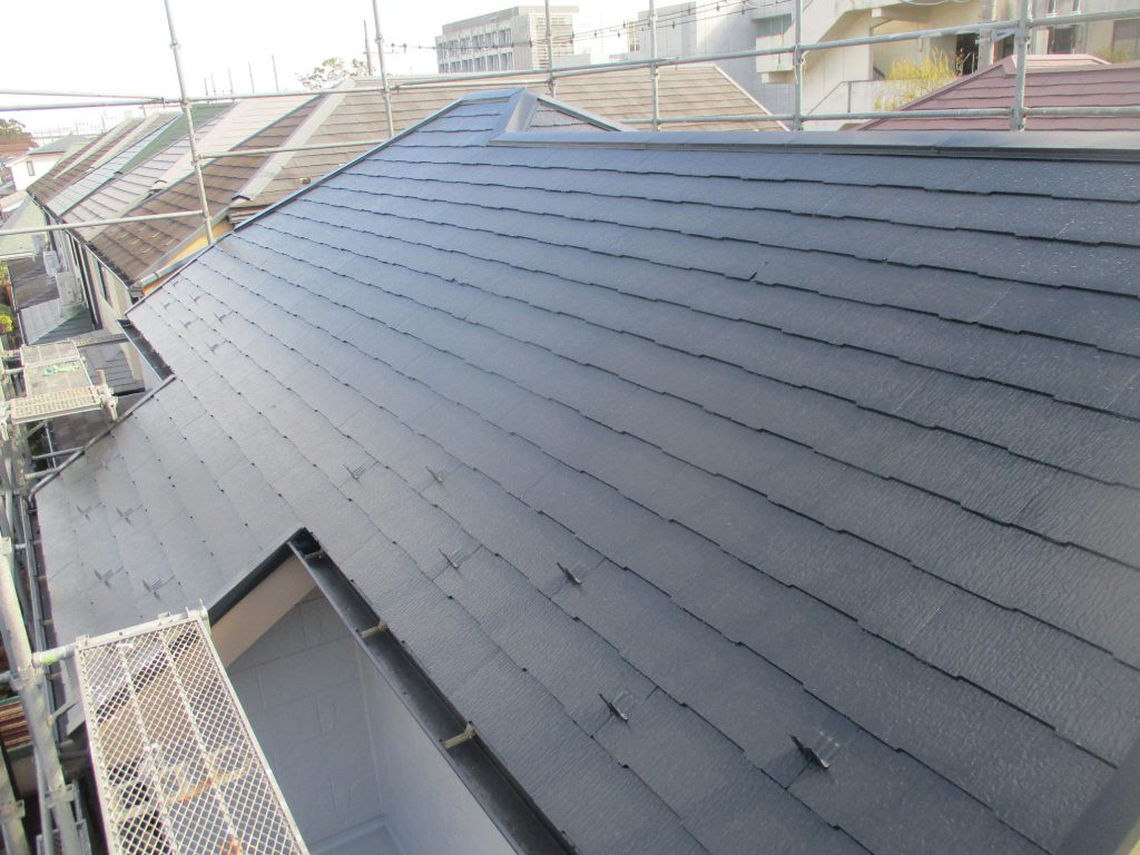 【横浜市磯子区】 3F戸建て塗装外壁 パーフェクトトップ 屋根 サーモアイSi after3