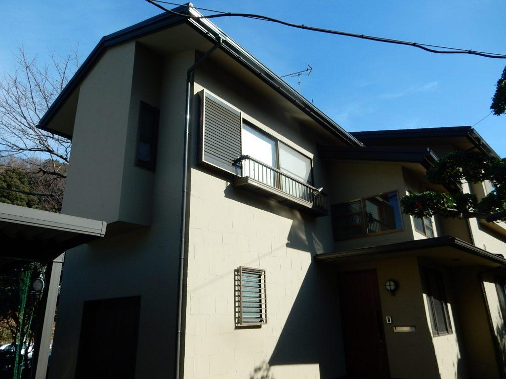 【横浜市港北区】 戸建て塗装外壁 パーフェクトトップ 屋根 スカイメタルルーフ after1