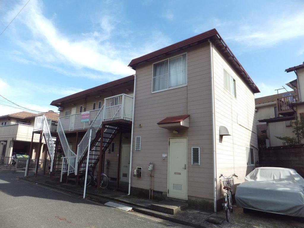 アパート外壁塗装【横須賀市】水性シリコンセラUV before1