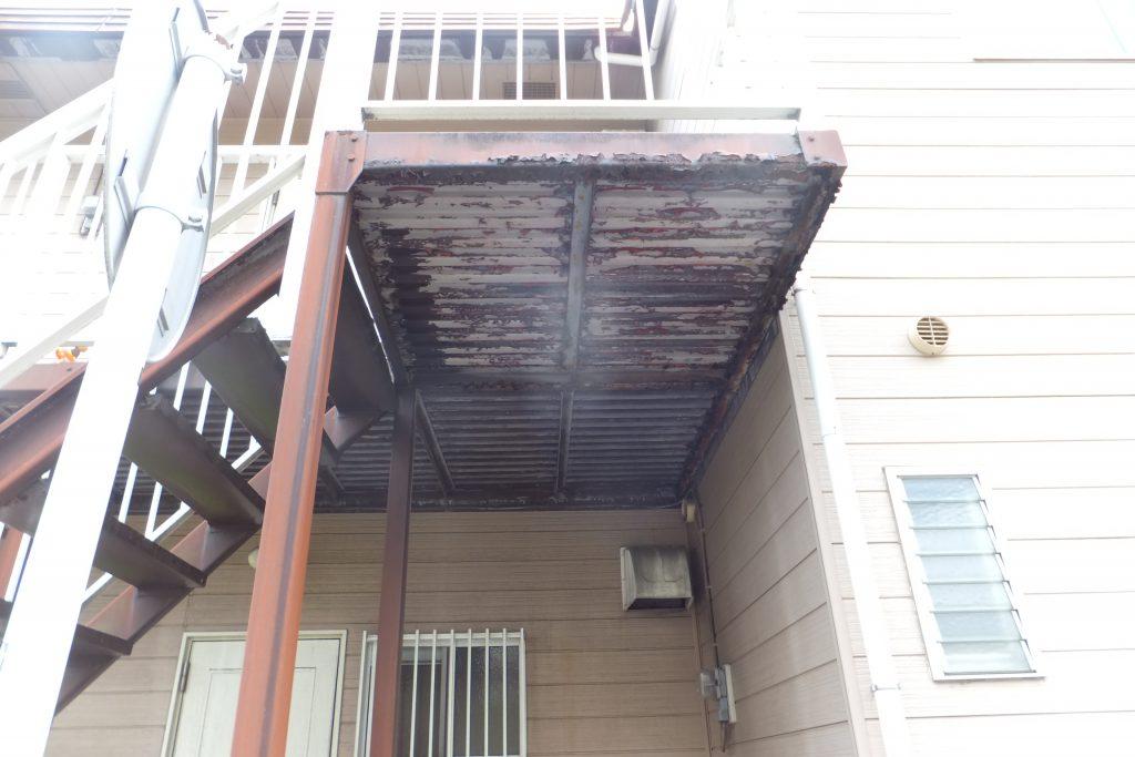 アパート外壁塗装【横須賀市】水性シリコンセラUV before3